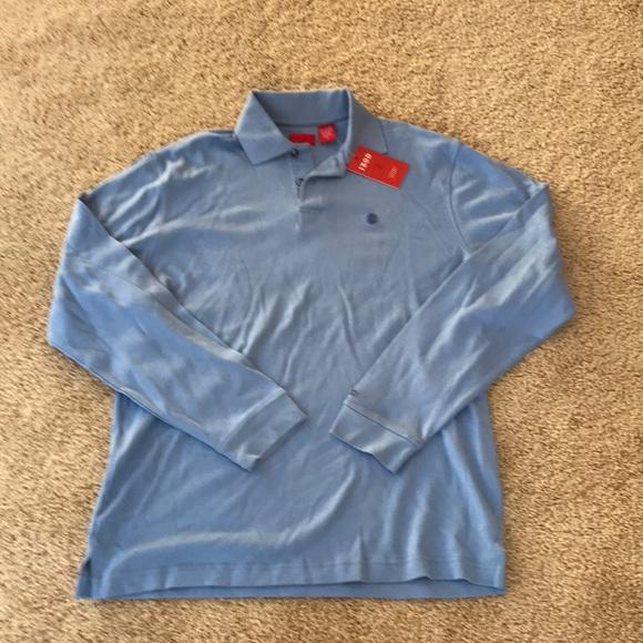 Izod Other - NWT! izod Men's medium blue L/S  cotton T shirt